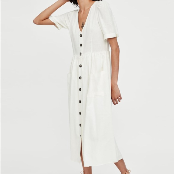 ee4cab87ff9 Zara midi dress with buttons size small. M 5c4b97662e147857982a2352